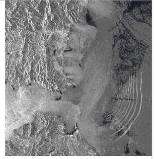 gelombang dalam (internal wave) yang diambil dari satelit.