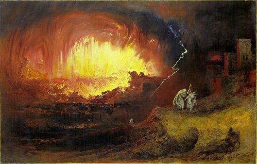 Kemusnahan Sodom dan Amora (Gomora), John Martin, 1852.